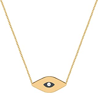 small gold evil eye necklace