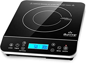 Duxtop Portable Induction Cooktop, Countertop Burner Induction Hot Plate with LCD Sensor Touch 1800 Watts, Silver 9600LS/B...