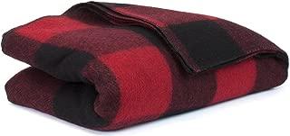 Bunkhouse Wool Blankets NW-WBASBHP 80 x 62 Inches Twin Size - Machine Washable