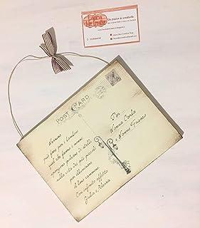 Idea regalo per i Nonni : Targa - Cartolina postale in legno personalizzata