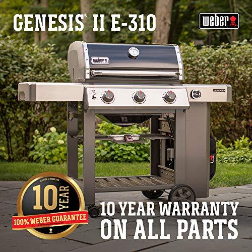 Weber 61011001 Genesis II E-310 LP Grill, Black