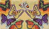 Toland Home Garden Flight of The Butterflies 18 x 30 Inch Decorative Floor Mat...