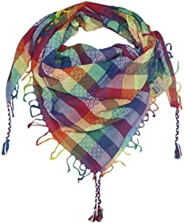 100% Cotton Shemagh Keffiyeh Scarf Wrap for Women and Men by Tahrir Scarf - 3 Sizes and many color options