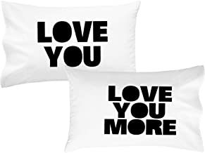 Oh, Susannah Love You Love You More Pillow Cases Luxury Soft Pillowcases You'll Love to Sleep on Wedding Engagement Gift Birthday Presents for Couples (2 Pillowcases)