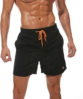 JustSun Mens Swim Shorts Waterproof Quick Dry Beach Shorts with Mesh Lining