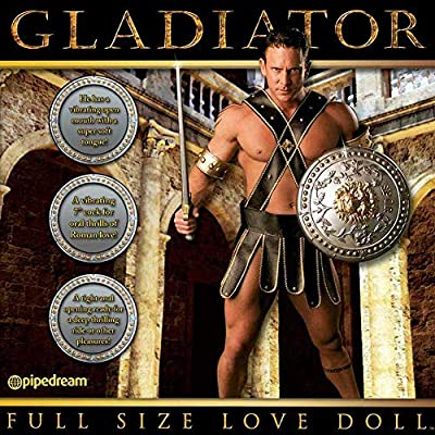 "Full Size GLADIATOR Love Doll for Women with 7 Inch Vibrating ""Bigus Dickus"""
