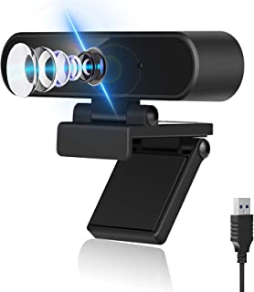 1080P Webcam, HD Webcam with Microphone USB Computer Camera with Wide Angle for Video Calling Conferencing Recording, Web ...