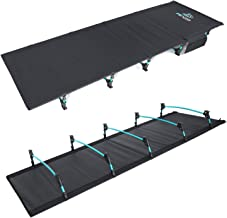 FE Active Camping Folding Cot - Compact, Strong & Sturdy Ultralight Portable Camping Bed for Adults & Kids Travel Sleeping Cot Fits Single Air Mattress Essentials & Gear   Designed in California, USA