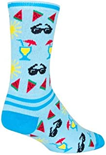 Sock Guy Unisex Poolside Crew Sock,  Adult,  Poolside