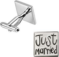 KraZy Cufflinks Just Married Cufflinks - Free Gift Box
