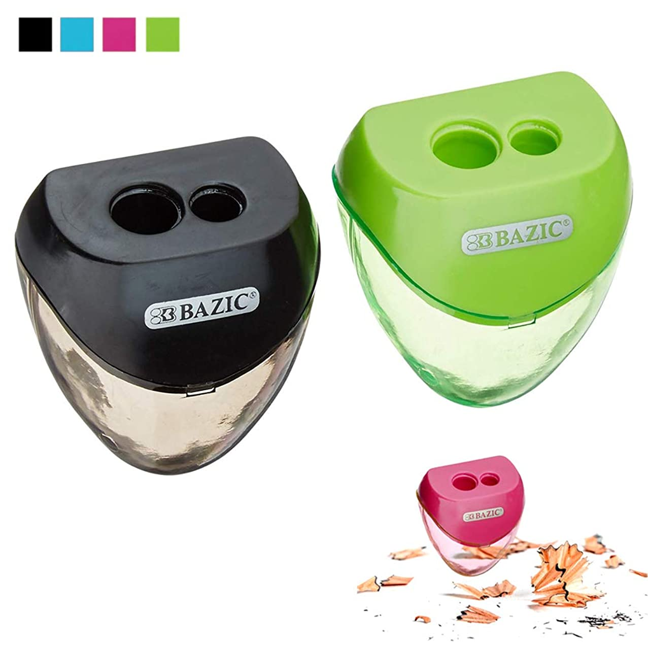 2 Set Pencil Sharpener Double Hole Cutter Colors School Supplies Office Art Kids