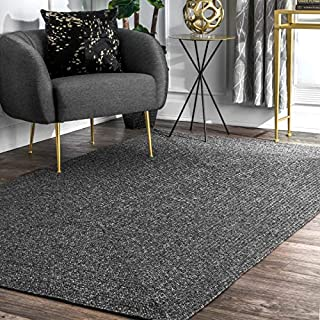 nuLOOM Wynn Braided Indoor/Outdoor Area Rug, 8' Round, Charcoal (B07R1ZFDVW) | Amazon price tracker / tracking, Amazon price history charts, Amazon price watches, Amazon price drop alerts