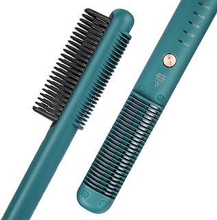 برس مو صاف کننده ، عملکرد شانه صاف کننده مو Fuhaieec با ضد حرارت 3 سطح حرارتی ، برس صاف کننده گرمایش سرامیکی سریع 30S مناسب برای خانه ، مسافرت و سالن