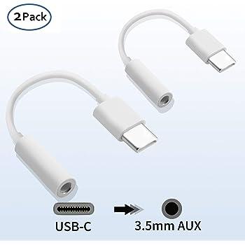 Chenme Adaptateur USB C Jack 3, 5mm, Adaptateur Casque Audio Type C Jack Câble pour Huawei P20P20 ProP30P30 Pro, Xiaomi 68, Mix 23, OnePlus 6T