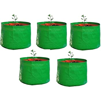 "YUVAGREEN Terrace Gardening Leafy Vegetable Green Grow Bag (12"" X 15"") - (Pack of 5)"