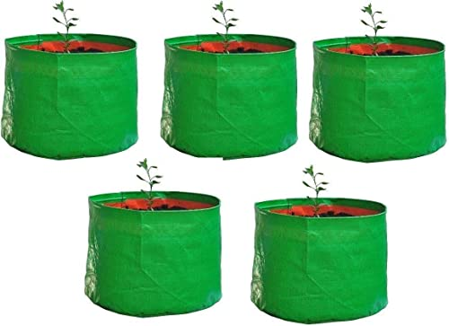 """YUVAGREEN Terrace Gardening Leafy Vegetable Green Grow Bag (12"""" X 12"""") - (Pack of 5)"""