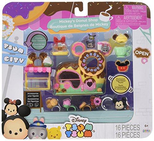 TSUM TSUM Disney Mickey's Donuts Shop Set Miniature Toy Figures