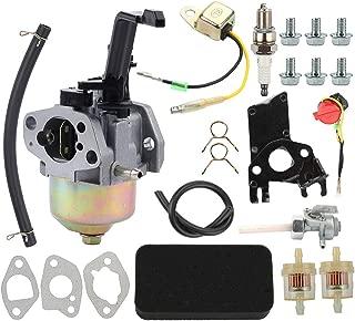 Allong Carburetor with Air Filter Fuel Filter Spark Plug Tune Up Kit for Honda GX120 GX160 GX168 GX200 168F 5.5-6.5HP 163cc 196cc Engine EB2200X EB2500X EM1600X Generator