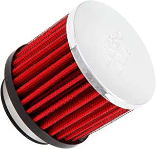 K&N 62-1485 Vent Air Filter / Breather: Vent Air Filter/ Breather; 1.25 in (32 mm) Flange ID; 2.25 in (57 mm) Height; 2 in (51 mm) Base; 2 in (51 mm) Top