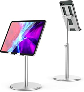 SHINEVI Cell Phone Stand for Desk, Angle Height Adjustable iPad Stand All Aluminum Alloy Stable Desktop Phone Holder Stand...