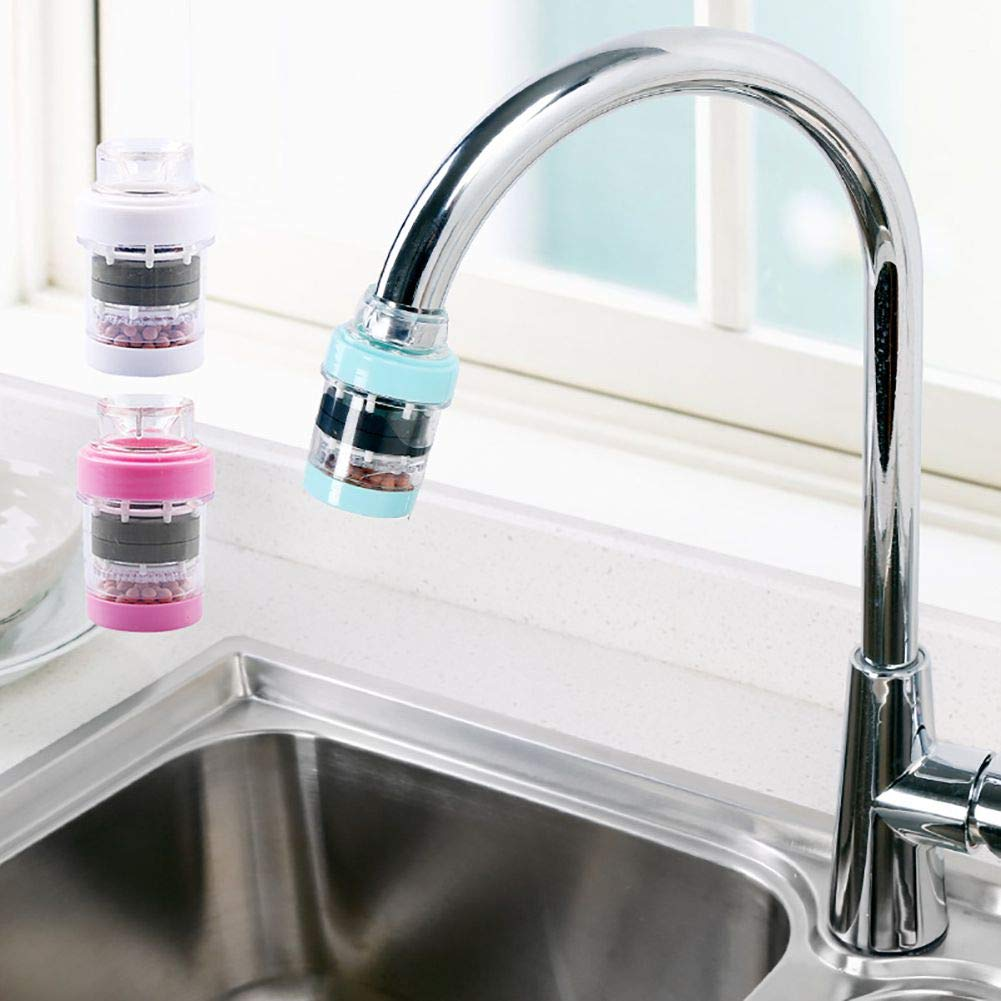 Grifo de cocina con piedra para purificar grifos de agua, filtro purificador de agua 2 unidades blanco: Amazon.es: Hogar