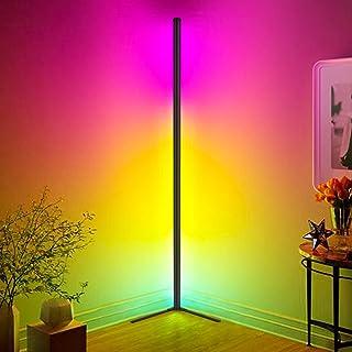 Lampadaire LED Dimmable avec Télécommande, Hidixon 18W RGB Lampe Salon LED Minimaliste Moderne avec Musique Changement de ...