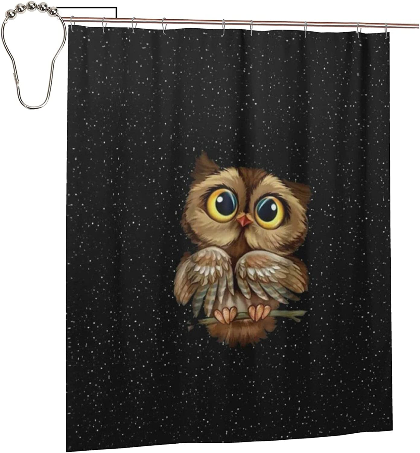 Colorful Direct sale of Chicago Mall manufacturer Woodland Owls Cute Funny Shower 60x72 Inch Curtains Pol