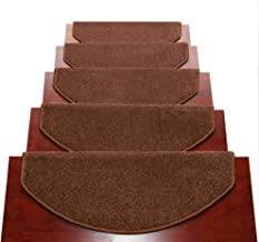 HAIPENG Stair Carpet Treads Pads Mats Step Rugs Non Slip Staircase Ottomans, 12mm, 5 Sizes, 2 Colors, 2 Styles (Color : Br...