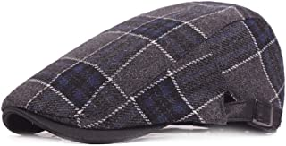 2019 Women Peaked Cap for Unisex Warm Knitting Woolen Adjustable Flat CapDuckbill Newsboy Gatsby Irish Hat 55-60cm (Color : 2, Size : Free Size)