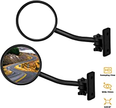 JoyTutus Mirrors Doors Off Quick Release, Hinge Round Mirrors for Jeep Wrangler JK JKU TJ