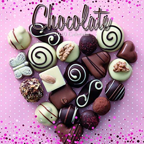 2020 wandkalender - Chocolade kalender, 12 x 12 Inch Maandelijkse weergave, 16-maanden, Eten en Dessert Thema, Inclusief 180 Reminder Stickers