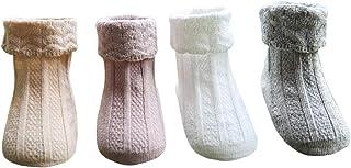 DEBAIJIA, Calcetines Antideslizante de Encaje de Algodón para Niñas 0-6 años Niños Calcetines con Volantes Antideslizantes Cálidos y Cómodos Primavera Autum Calcetines