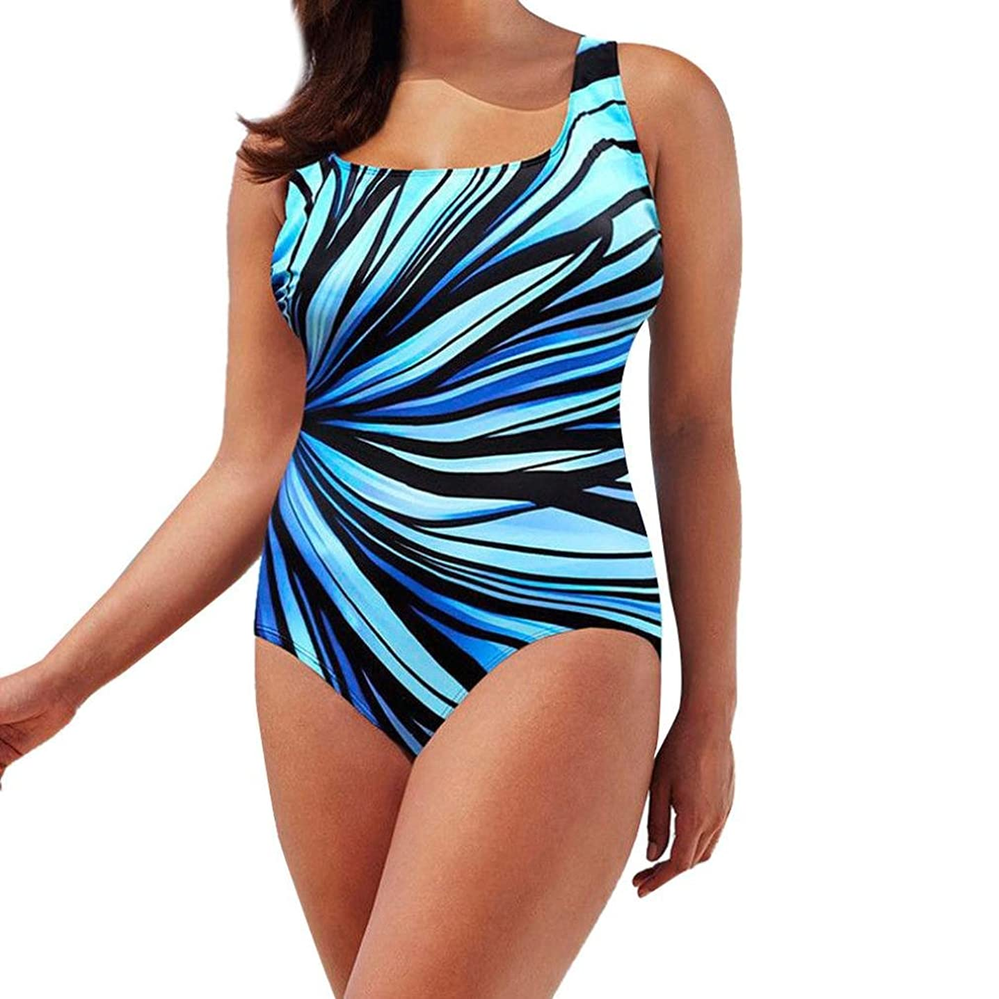 Boomboom Womens Colorful Plus Size One Piece Bikini Swimwear