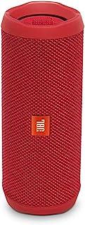 JBL Flip 4 Enceinte Portable Robuste - Étanche IPX7 pour Piscine & Plage - Autonomie 12 hrs - Qualité Audio, Bluetooth, Rouge