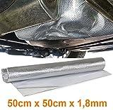 Carparts-Online 29921 Auspuff Thermo Hitzeschutz Matte Alu Keramik selbstklebend