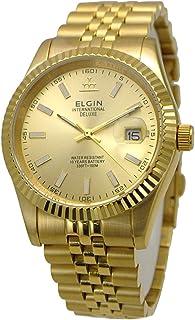【国内正規品】ELGIN エルジン 腕時計 メンズ ゴールドベルト ゴールド文字盤FK1422G-G