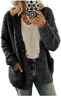 Womens Fall Winter Blouse Pocket Sherpa Lined Plus Size Duffle Coats
