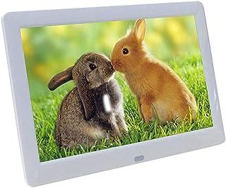 HUALEIYUAN AU 8 Inches Digital Picture Photo Frame Full-View Screen Photo Album 1280 * 720 Clock Calendar Video Player Dig...