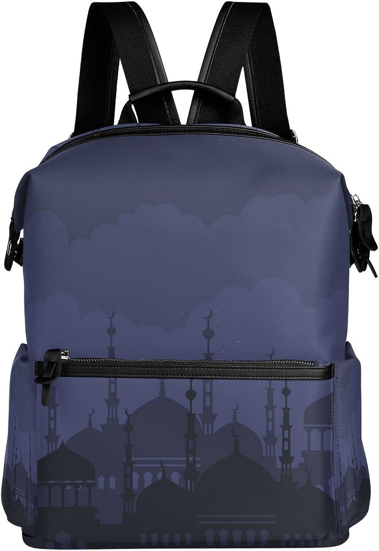 LORVIES Arabian Night School Rucksack Travel Backpack