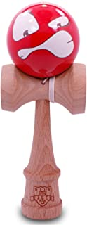 Kaleb Kendama with Big Red Face Ball and Extra String