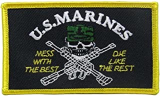 ALBATROS U.S. Military Marines USMC Mess Best Flag (Pack of 3) Iron On Patch for Home and Parades, Official Party, All Weather Indoors Outdoors