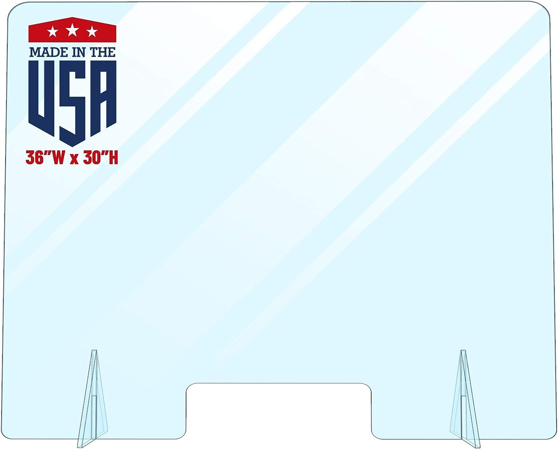 Acrylic Plexiglass Sneeze Guard - Ranking TOP1 Freestanding New Shipping Free Protective Shield