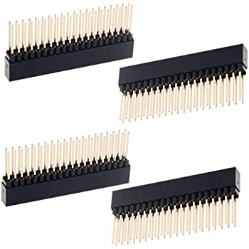 ELEDIY 2 x 20(40 Pin) Stacking Header for Raspberry Pi A+/B+/Pi 2/Pi 3 Extra Tall Header (Pack of 4)