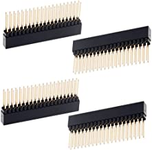 ELEDIY 2 x 20(40 Pin) Stacking Header for Raspberry Pi A+/B+/Pi 2/Pi 3 Extra Tall Header (Pack of 4)