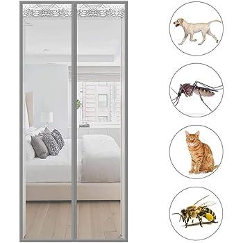 Mosquitera Puerta Magnetica Mosquiteras a Medida con Durable Anti Insectos Moscas y Mosquitos para Puertas Correderas - Gris 120x210cm(47x83inch): Amazon.es: Hogar