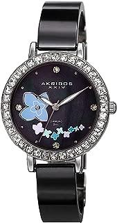 Akribos XXIV Womens Quartz Watch, Analog Display and Stainless Steel Strap