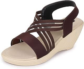 TRASE Elastic Wedges for Women - 3 Inch Heel