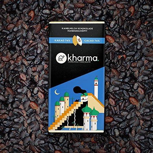 2 Tafeln Kharma Kamelmilchschokolade Kakao 74% aus österreichischem Meister-Manufakturbetrieb