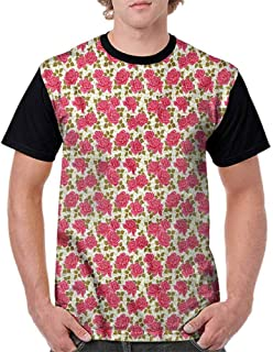 BlountDecor Loose T Shirt,Paisley of Middle East Fashion Personality Customization