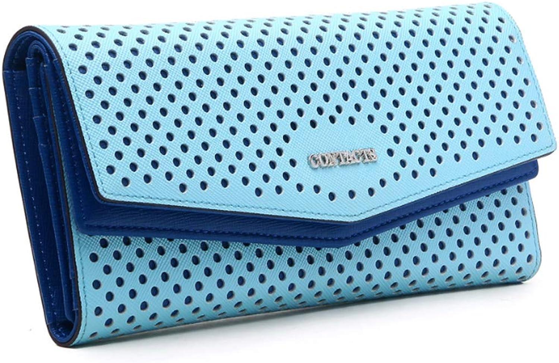 MUMUWU Women's Wallet Long Casual Clutch Threefold Multifunction Coin Purse Hollow Wallet Fashion Bag